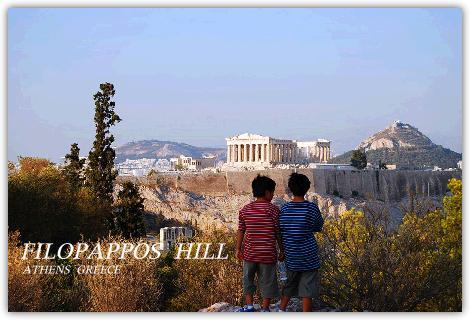 フィロパポスの丘とパルテノン神殿