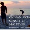 インド洋の夕日/モルジブ