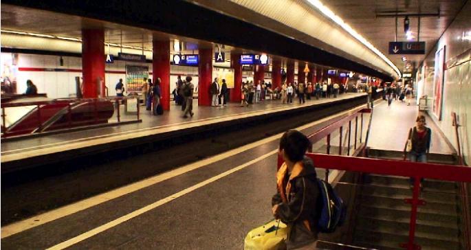 ミュンヘン中央駅に到着。写真はSバーンのホーム。