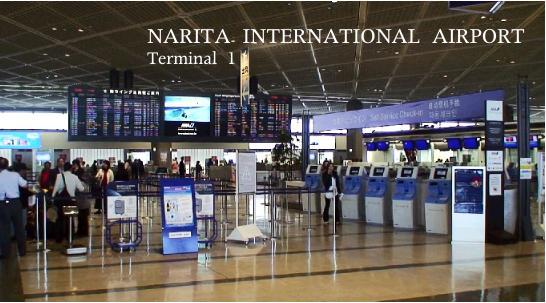 成田空港第一ターミナルのシンガポール航空の搭乗手続きカウンター