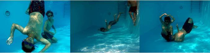 ファナリヴィラのプールで遊ぶ子ども達