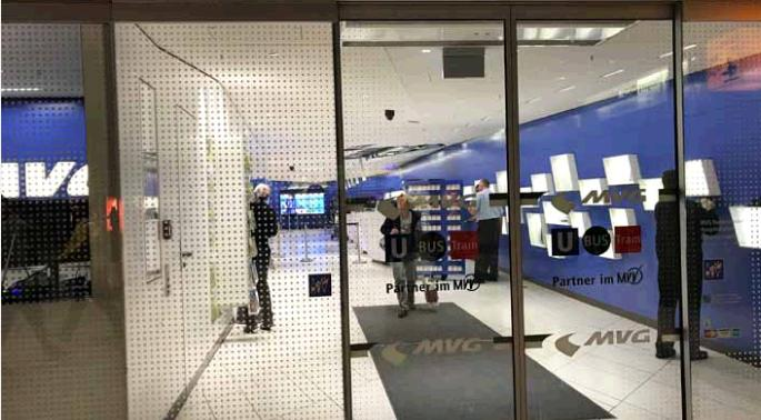 ミュンヘン中央駅地下にあるMVGのカウンター