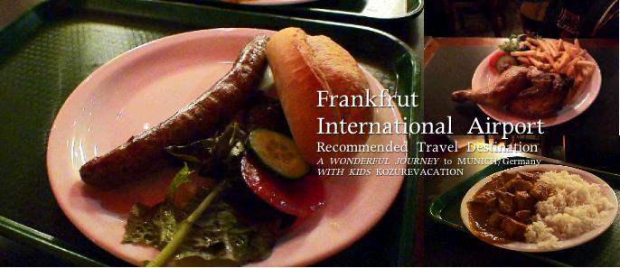 フランクフルト空港のレストランの料理