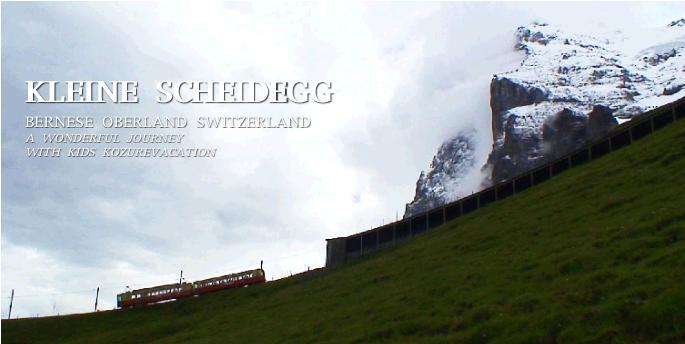 アルプスを行くスイスの登山鉄道