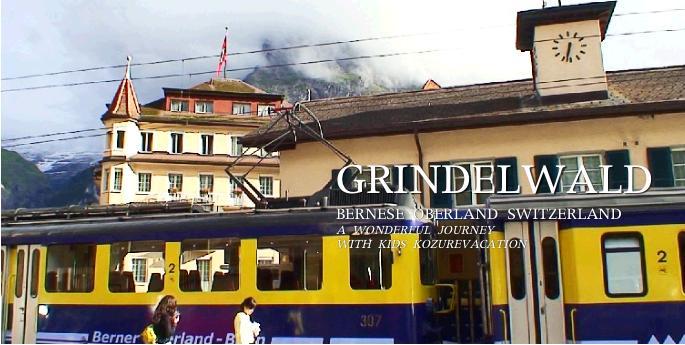 グリンデルワルド駅と電車