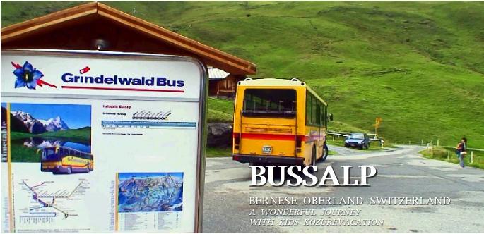 ブスアルプからバスでグリンデルワルドへ