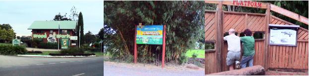 ユンガブラ村のカモノハシ観察所