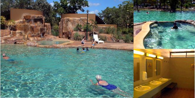 カカドゥのキャンプ場のプール