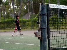 タヒチで子連れテニス