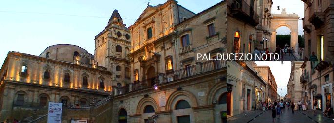 市庁舎の向かえにる夕映えのサンジョルジョ教会