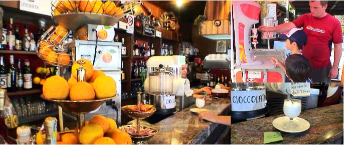 エトナ山のカフェ