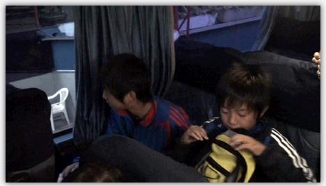 バスの2階席の様子