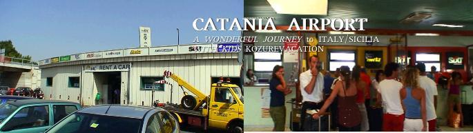 カターニア空港のレンタカーオフィス