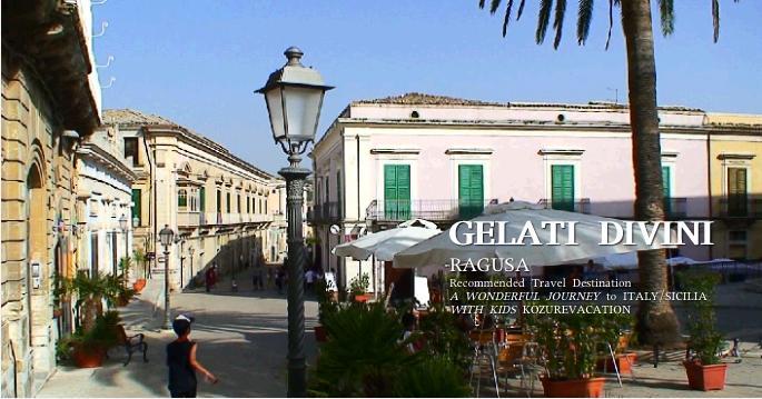 ジェラーティディヴィーニ前の広場