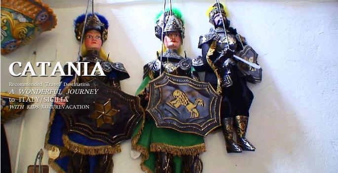 シチリアの伝統工芸品マリオネット