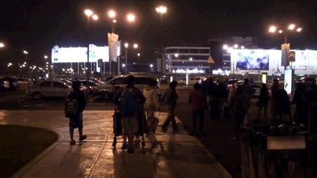 リマ空港の駐車場