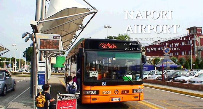 ナポリ空港からバスに乗る