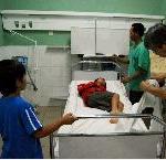 アンタナナリブの病院で診察を受けるカイ