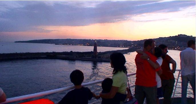 世界遺産ナポリの夕焼け