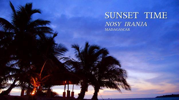 モザンビーク海峡の夕焼け