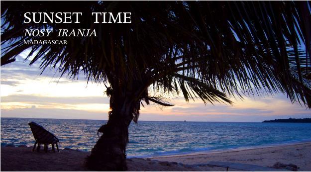 モザンビーク海峡の夕暮れ