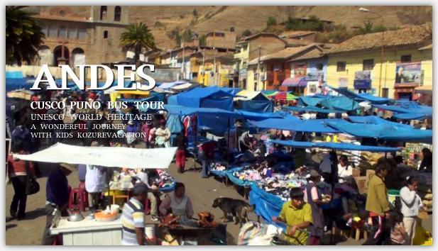 アンデス高原の青空市場