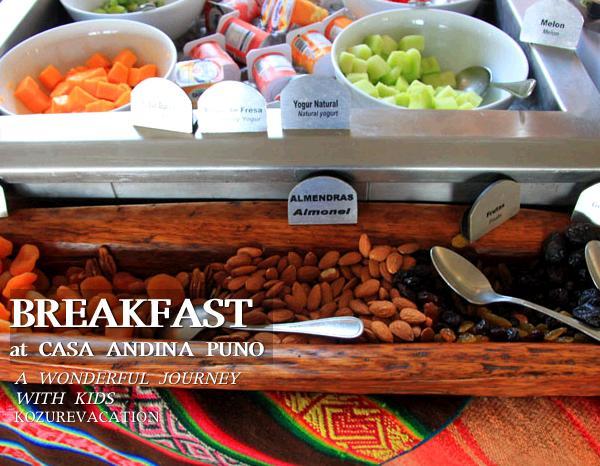 カサアンディーナの朝食