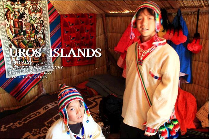 ウル族の民族衣装を着て記念撮影