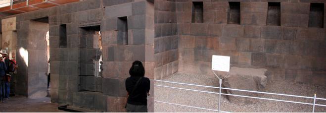 インカ皇帝のイスと生贄の石台