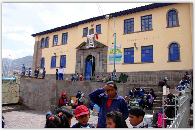 クスコの学校