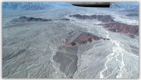 ナスカ平原の小高い丘