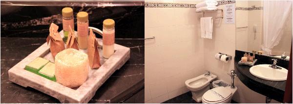 バスルームとアメニティ