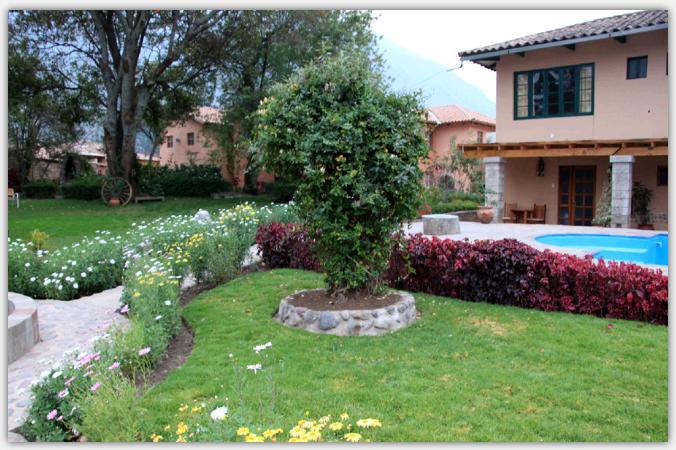 中庭とプール