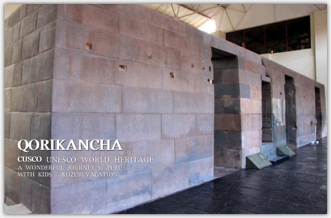 神殿内の石壁
