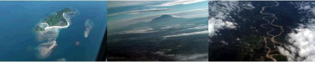 飛行機から見えるキナバル山