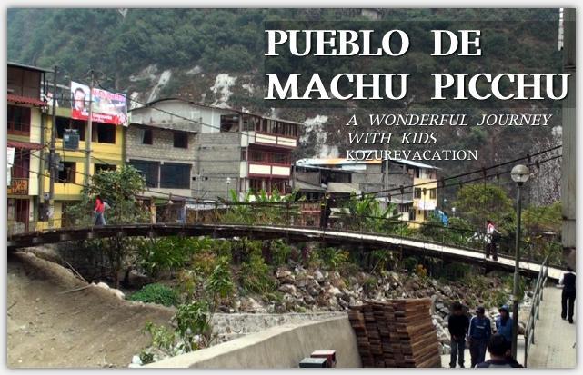 マチュピチュ村。アグアス・カリエンテス川沿いに並ぶホテルやレストランの風景