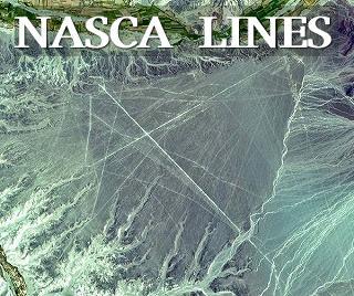 巨大なナスカ地上絵と線