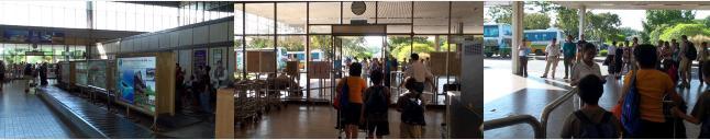 サンダカン空港の到着ロビー