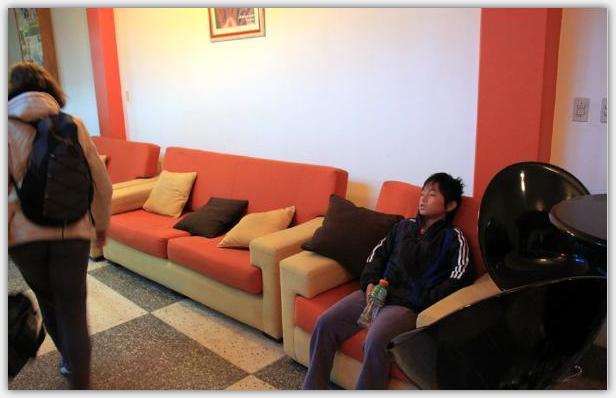 プーノバスセンターの待合室
