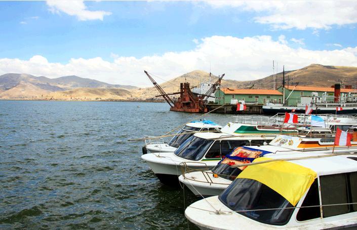 チチカカ湖の港