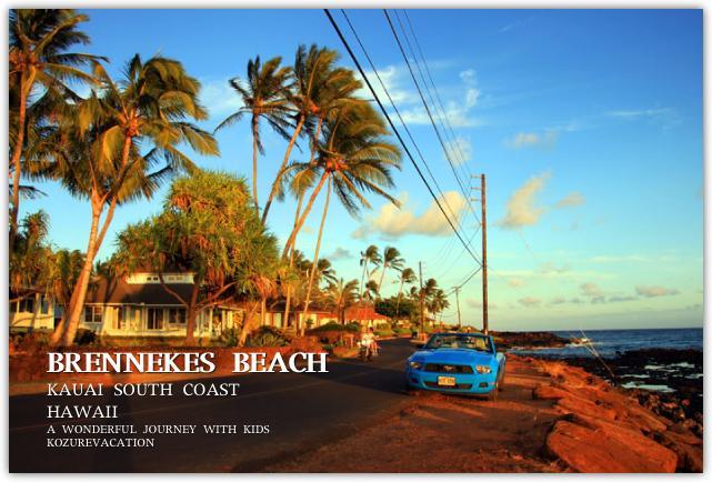 カイアイ島のビーチとレンタカー