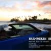 オープンカーとサンセットビーチ