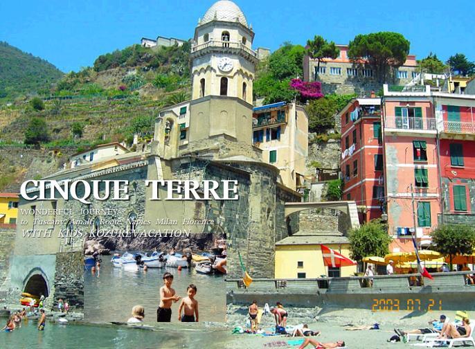 世界遺産の町のビーチで泳ぐ
