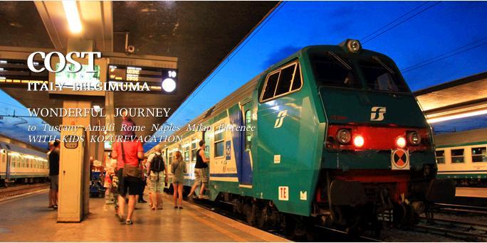 駅にホームに止まっている特急列車