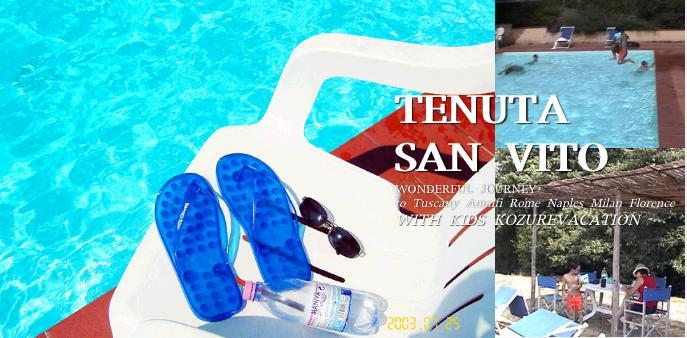 テヌータサンヴィートのプール