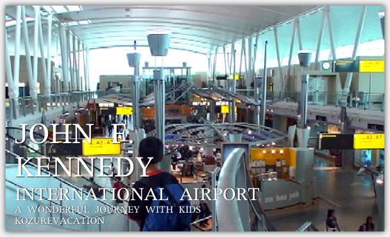 ニューヨーク・ジョン・エフ・ケネディ国際空港に到着