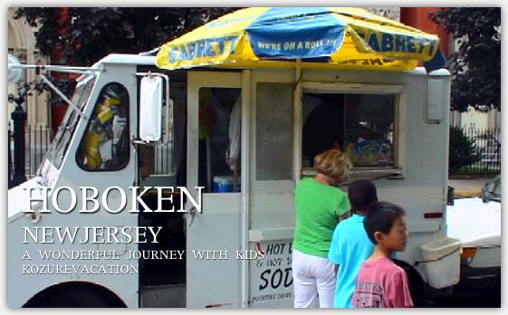 アイスクリームを売る移動販売車