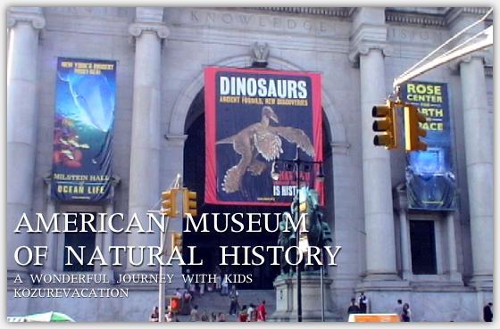 アメリカ自然史博物館の入り口
