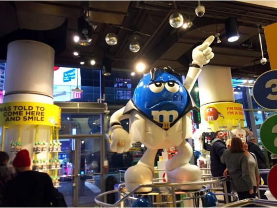 「M&M's ワールド」タイムズスクエアー店