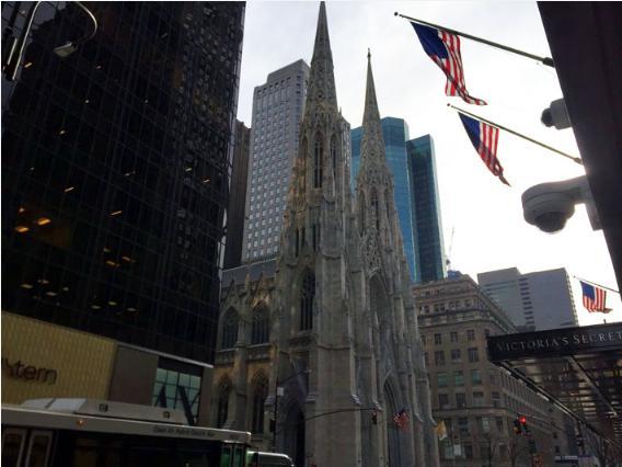 ウォール街にあるトリニティ教会